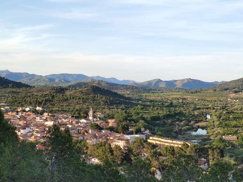 Vista del municipio de Estivella.