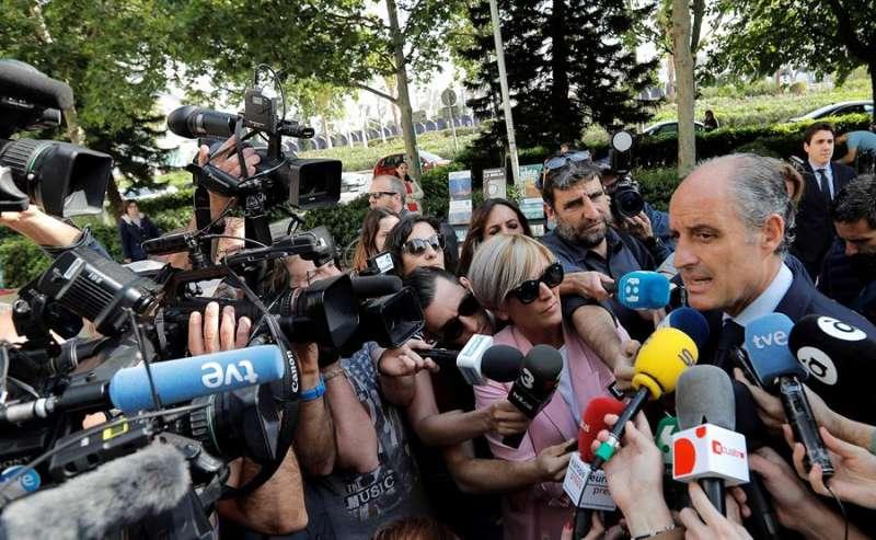 El expresident de la Generalitat Francisco Camps a su llegada a la Ciudad de la Justicia de València. EFE