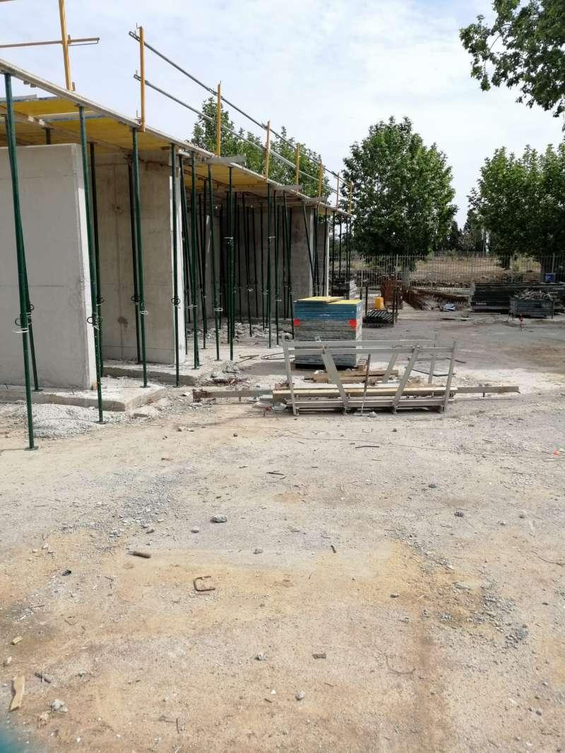 Construcció d?uns nous torradors a la zona del Pou. / EPDA