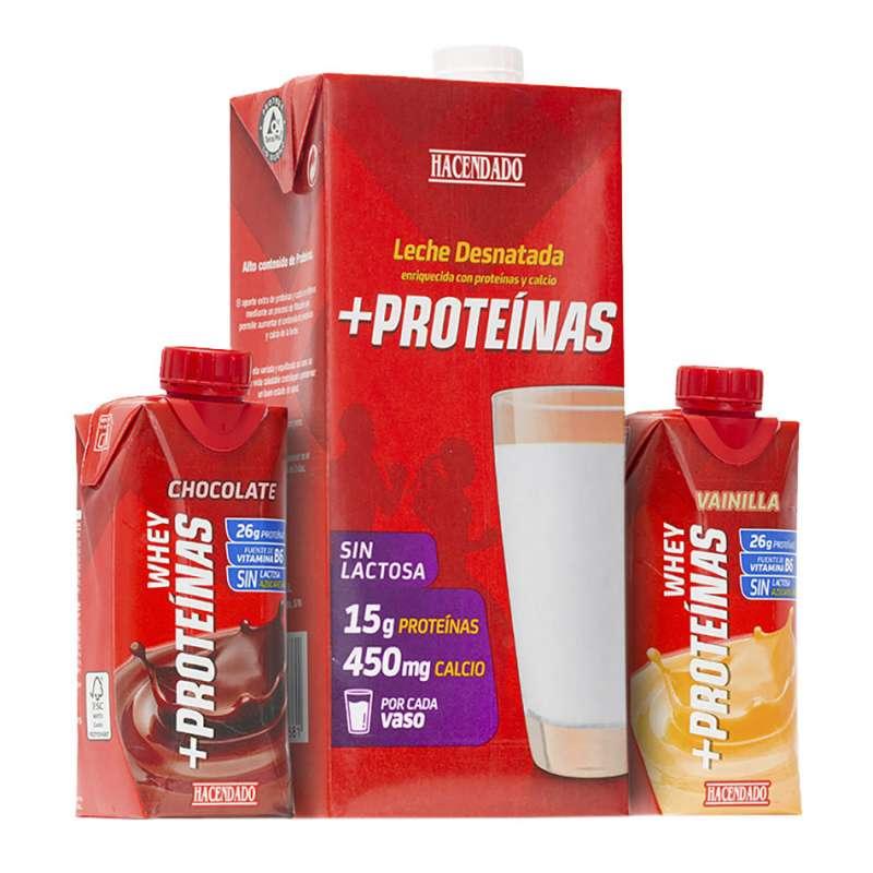 Batidos y leche +Proteínas de Hacendado