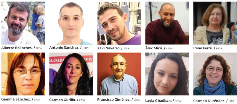 Candidatos de Podemos en la comarca. EPDA