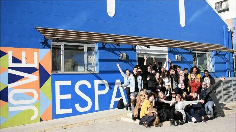Participantes del intercambio juvenil. EPDA