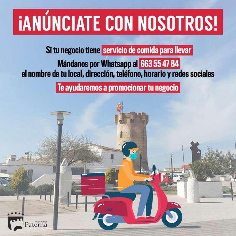 Campaña comida para llevar de Paterna. EPDA