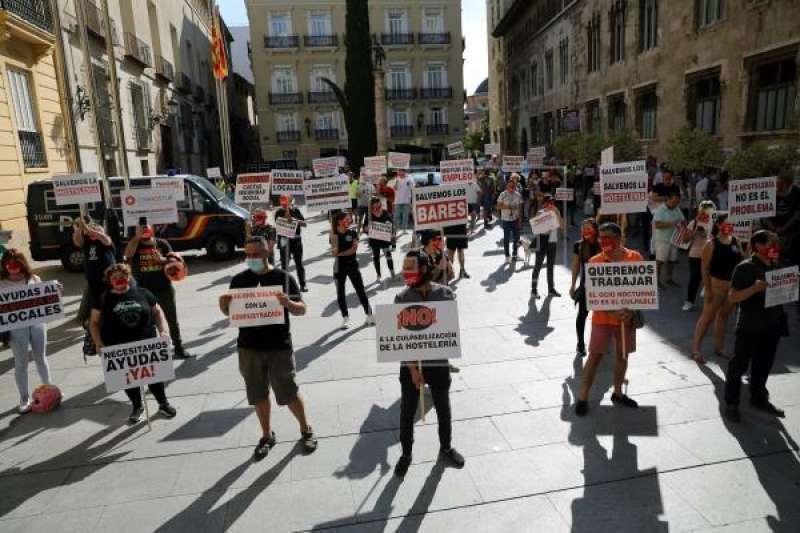 Manifestación contra las restricciones. EPDA.