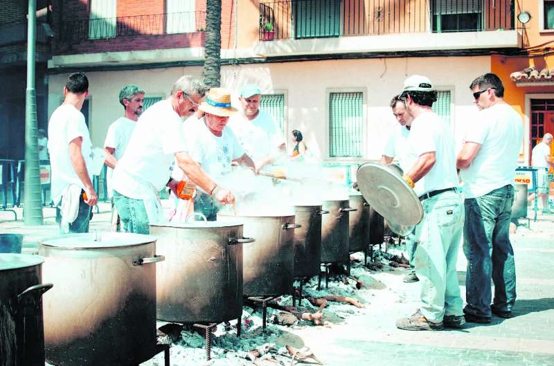 Celebración de las calderas en Almàssera. EPDA