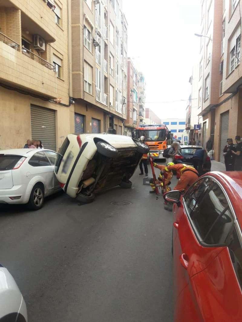 Estado del vehículo tras el accidente. EPDA