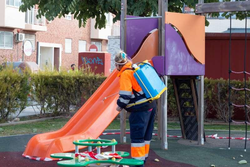 Tratamiento en un parque. EPDA