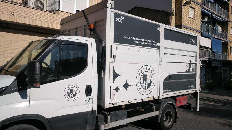 Imagen del camión de recogida de enseres. EPDA
