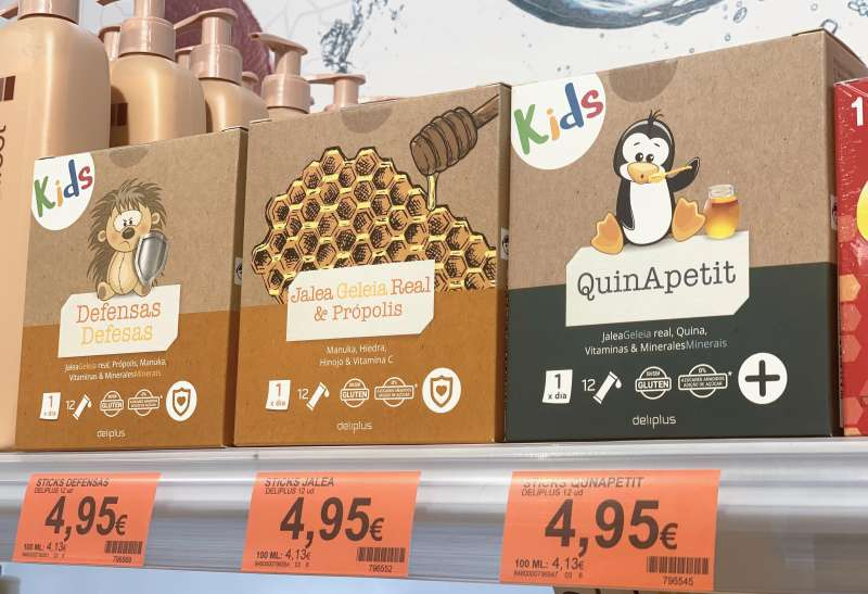Jalea Real, Defensas y QuinApetit en el lineal de Mercadona