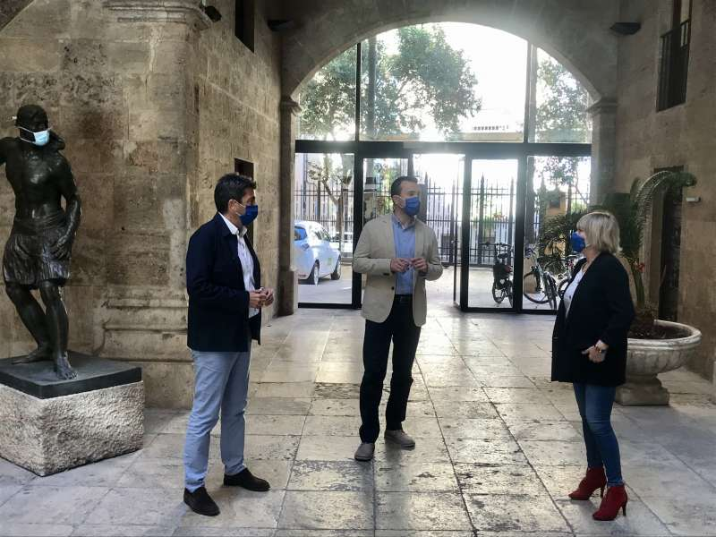 Carlos Mazón, Vicente Mompó y Elena Vicente acuerdan esta medida