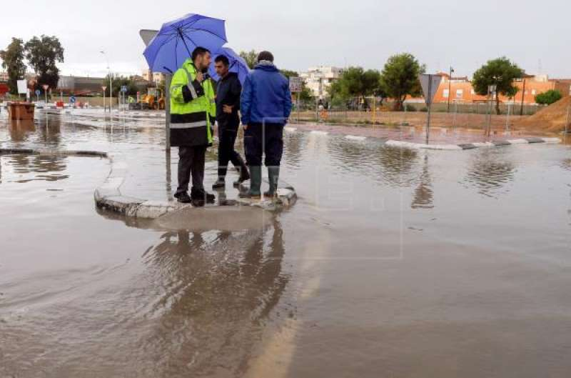 Zonas inundadas por culpa de las precipitaciones. EFE