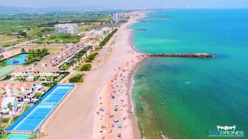 Playa del Puig vista des del dron. EPDA