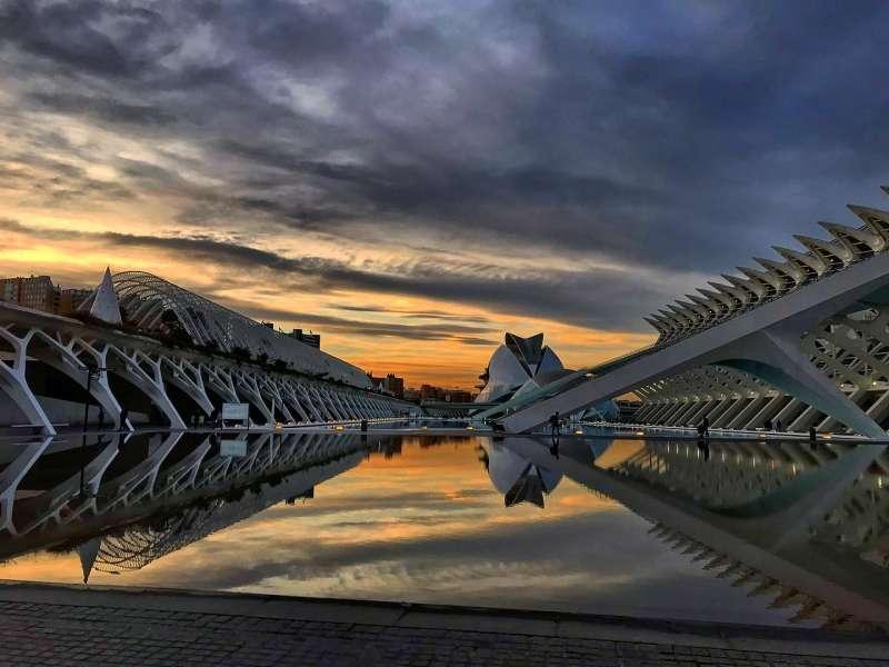 La Ciudad de las Artes y las Ciencias en Val�ncia. Foto de archivo.