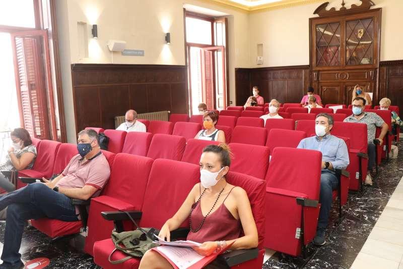Concejales de Sagunt durante el último pleno.