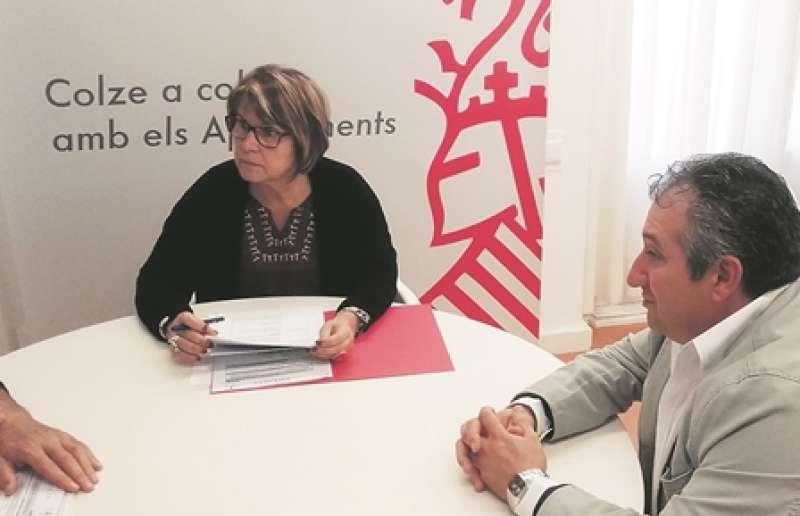 García y Bayarri, en la reunión. EPDA