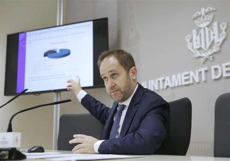 El concejal de Protección Ciudadana del Ayuntamiento de València, Aarón Cano, en una imagen difundida por el Consistorio.
