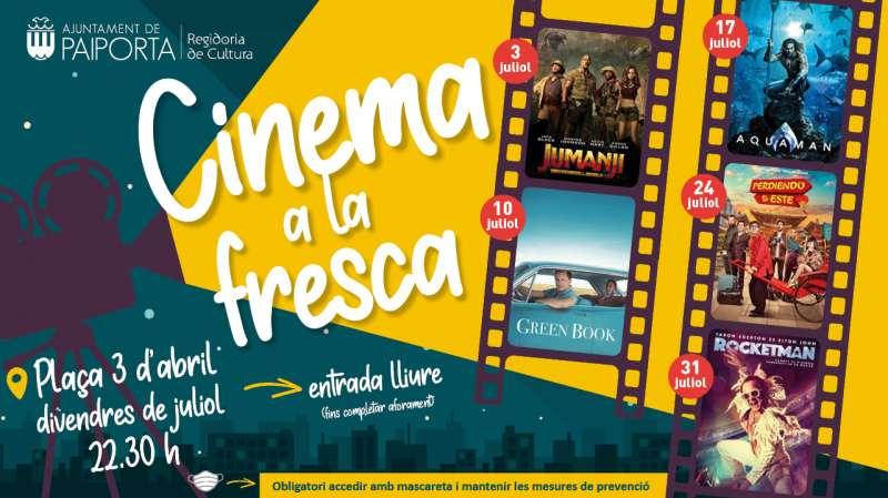 Cinema a la fresca en Paiporta. EPDA