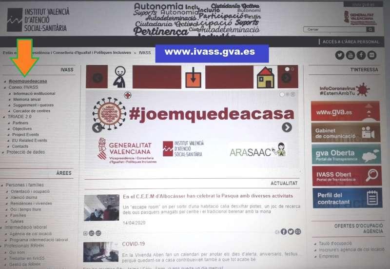 La web del IVASS. / EPDA.