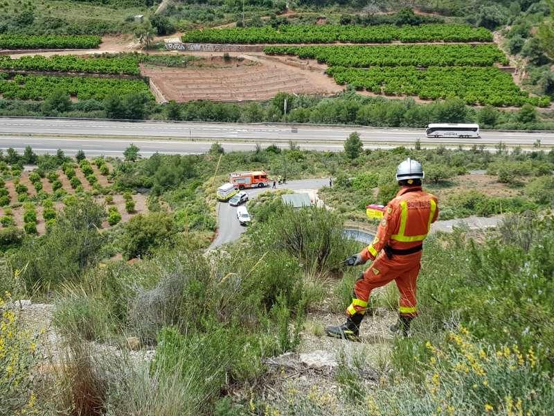 Operativo de rescate en Algímia. EPDA