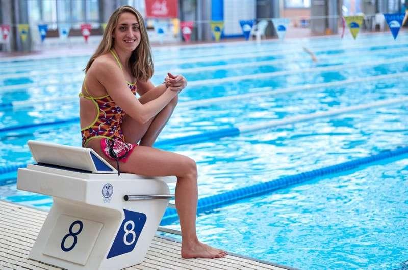 La nadadora Lidón Muñoz, una de las grandes esperanzas de la natación española en Tokio 2020. EFE/Archivo