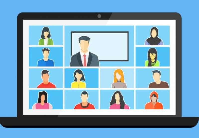 Reunión virtual de empleados. EPDA