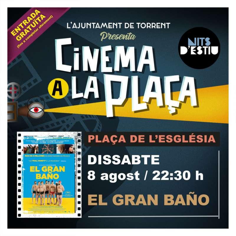 Cartel Cinema a la Plaça Torrent./ EPDA