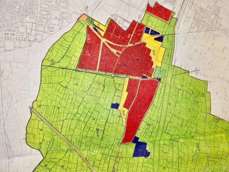 En amarillo, crecimiento previsto en el plan general actual. EPDA