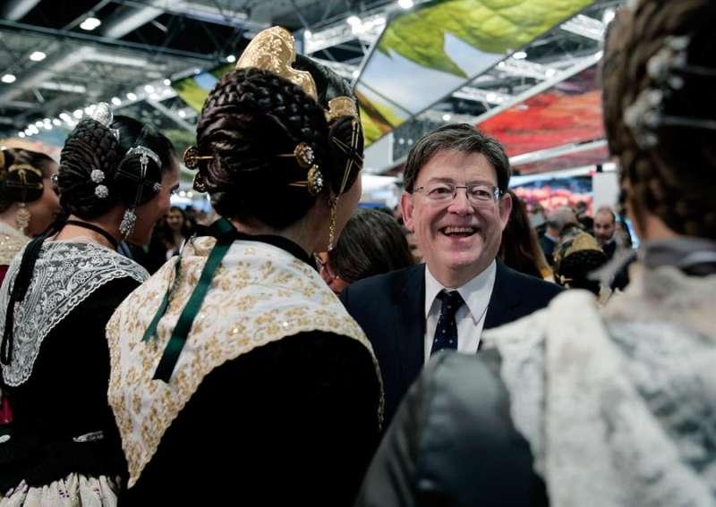 Ximo Puig, asiste este jueves a la Feria Internacional de Turismo (Fitur). EFE/Manuel Bruque