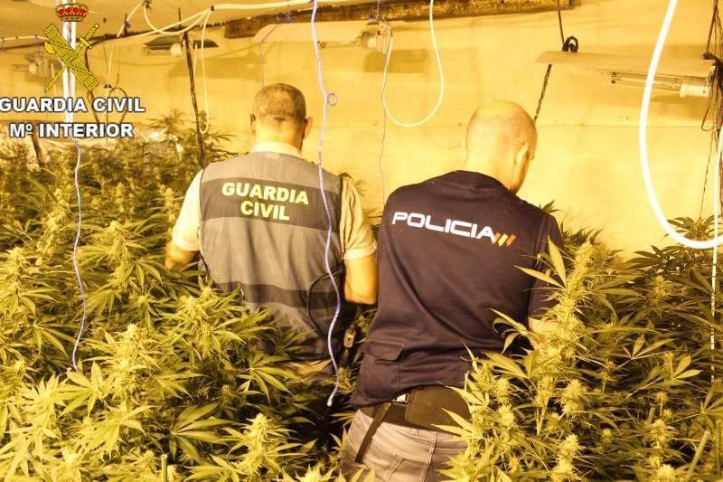Fotografía de la operación facilitada por la Guardia Civil. EPDA.