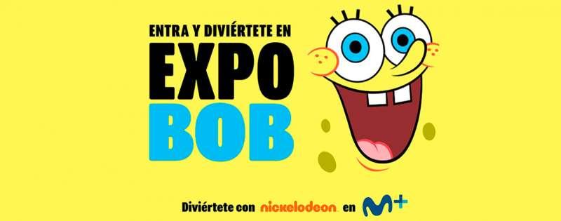 Cartel promoción Bob Esponja, Movistar. EPDA