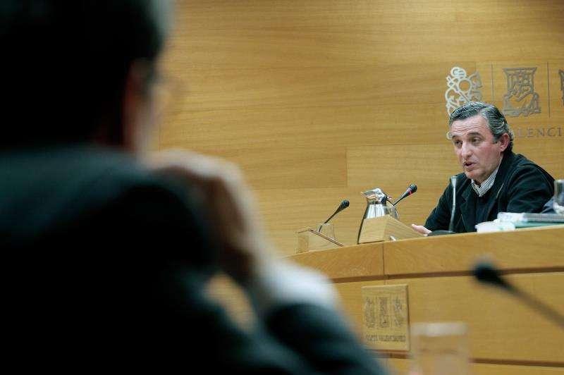 Pedro García en una comparecencia en les Corts Valencianes. EFE