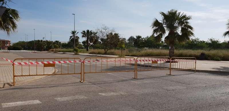 Zona cerrada al tráfico en Massamagrell. EPDA