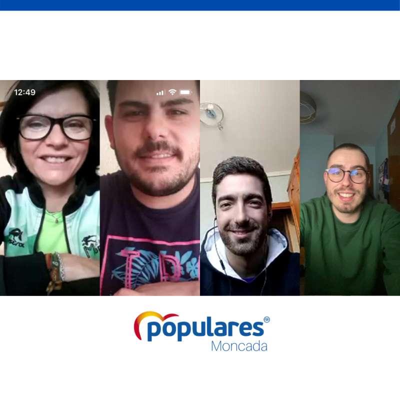 El grupo popular trabaja desde casa en Moncada. EPDA