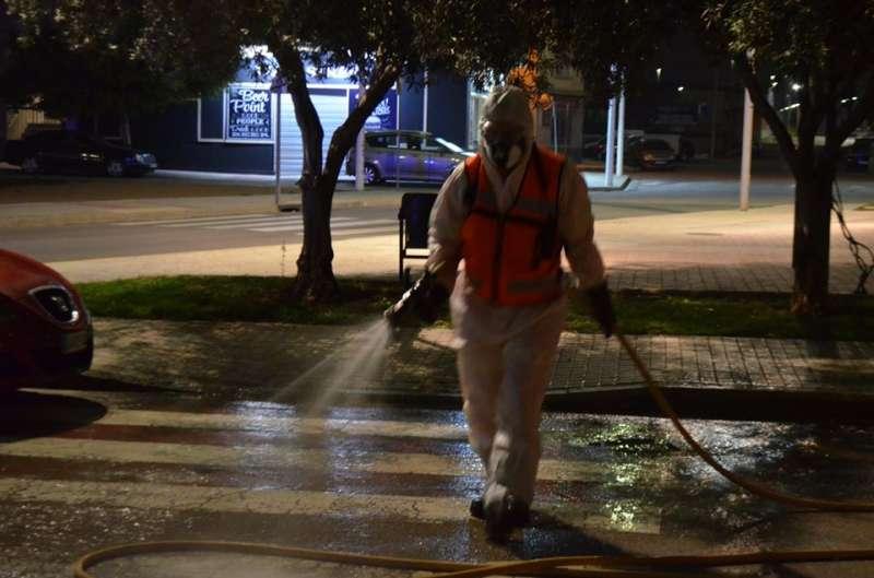 Desinfecció dels carrers. EPDA