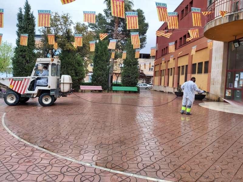Tareas de limpieza y desinfección en Aldaia
