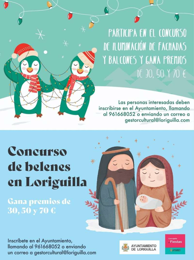 Cartel concurso navideño de Loriguilla. / EPDA
