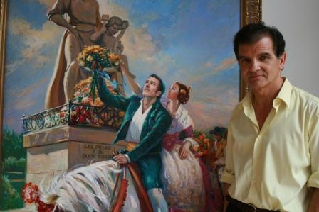 Emilio Frejo junto a una de sus obras. Foto: EPDA.