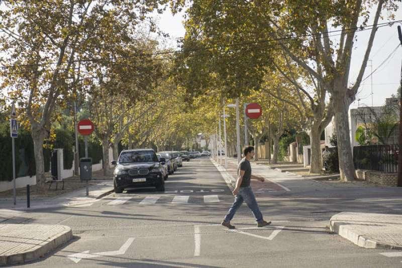 Una de las calles de L