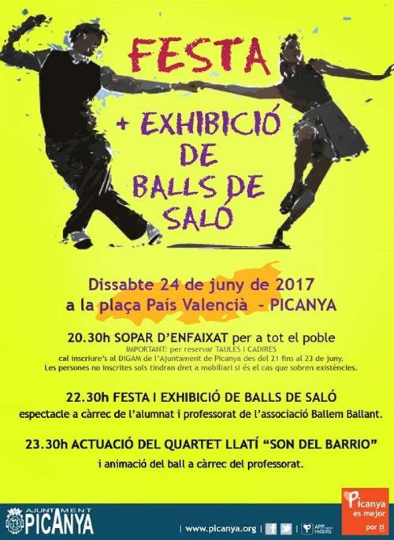 Cartell de la Festa de Balls de Saló de Picanya. EPDA