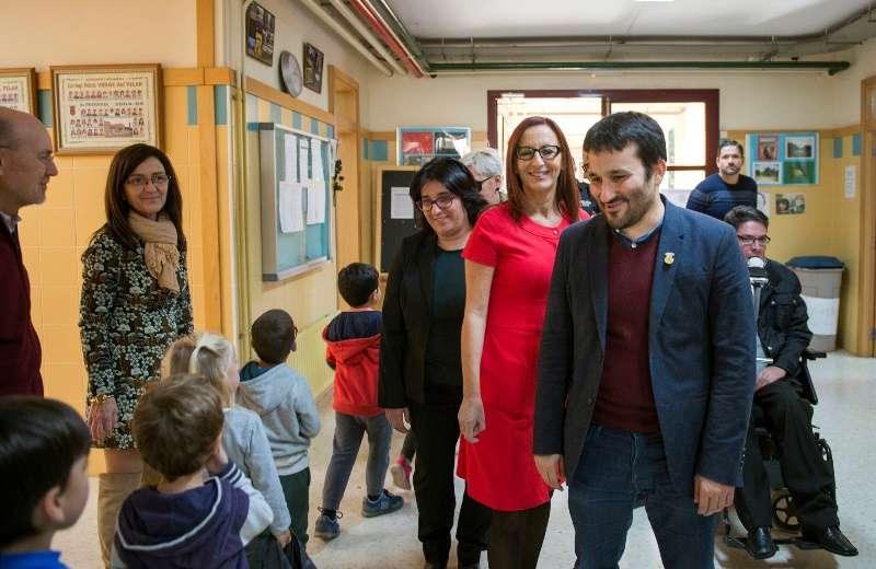 Amigó y Marzà visitan el colegio de Bonrepòs i Mirambell. EPDA