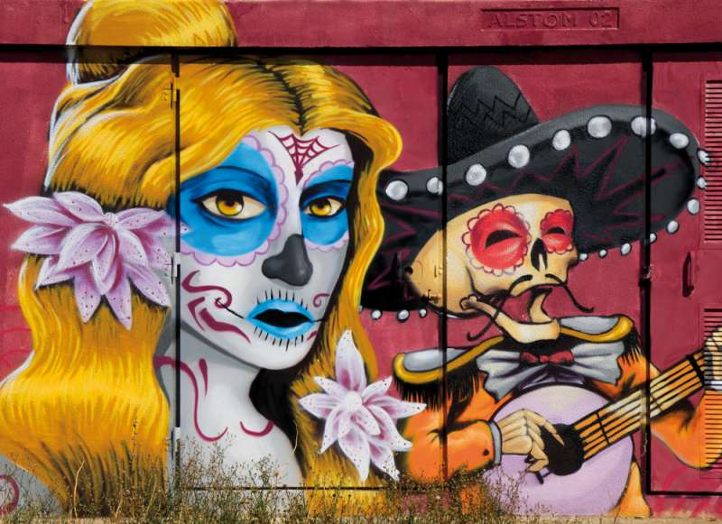 Un grafitti en Puçol. EPDA