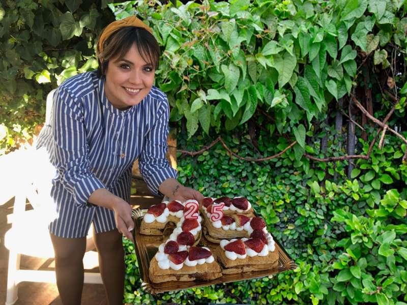 Marta Calvo en la celebración de su 25 cumpleaños