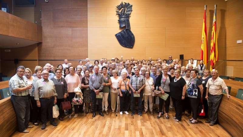 Vecinos de Algímia en la Diputación de València. EPDA