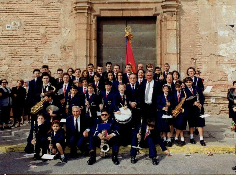 Imatge de la Banda de Canet el dia de la seua primera actuació en 1994. EPDA
