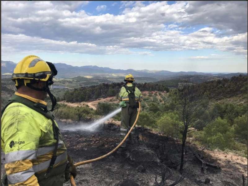 Finalizan las obras de restauración de las zonas afectadas por el incendio forestal de Gátova