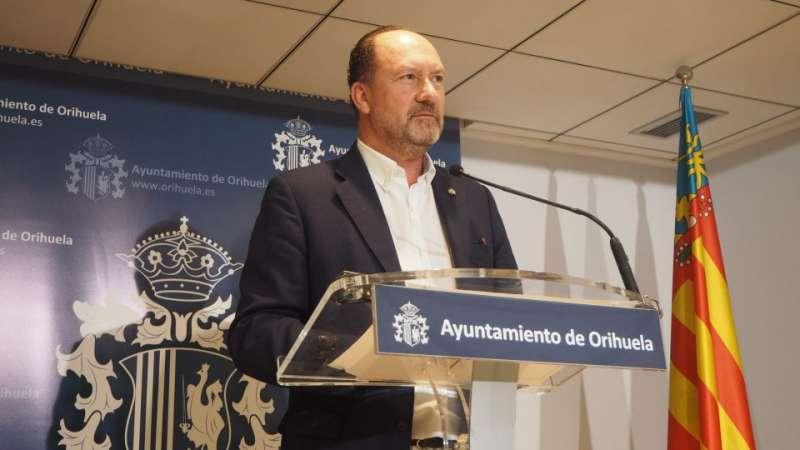 Alcalde de Orihuela, Emilio Bascuñana. EPDA