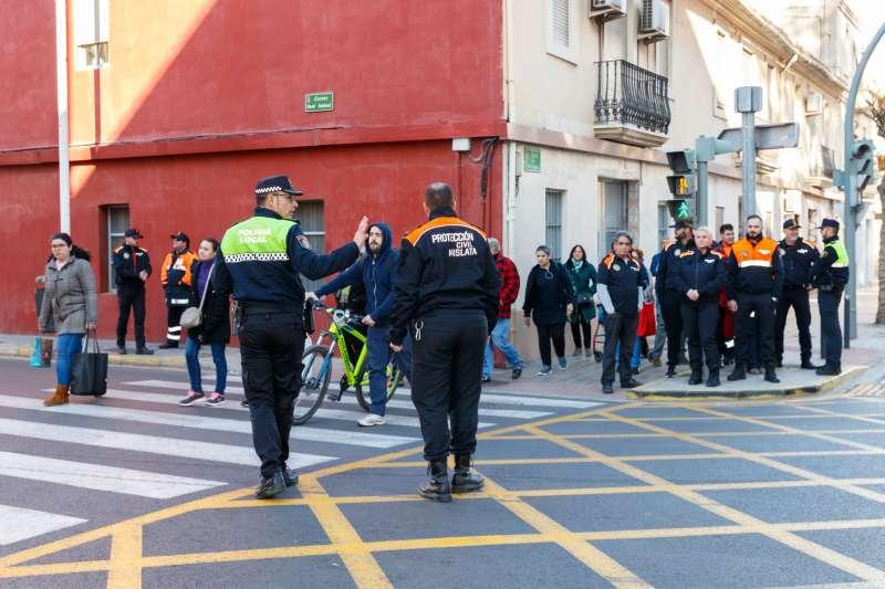Policía Local impartiendo cursos al cuerpo de Protección Civil. EPDA
