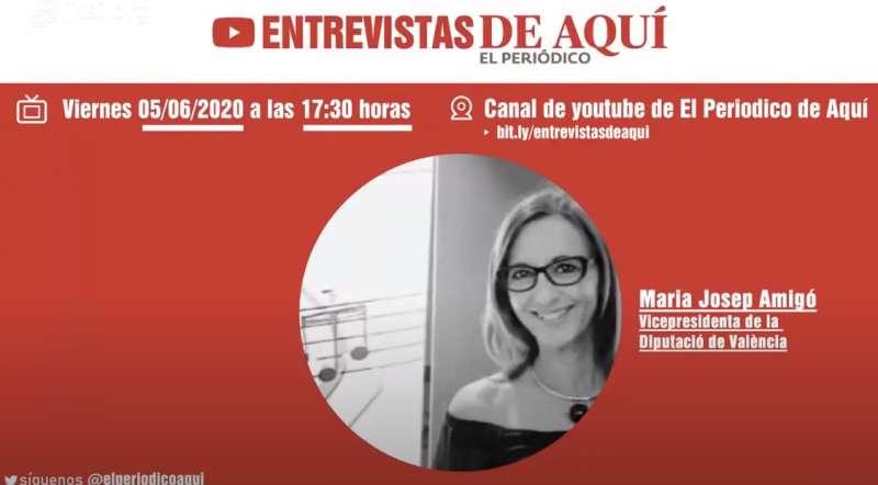 Entrevista a María Josep Amigó, vicepresidenta de la Diputació de València.