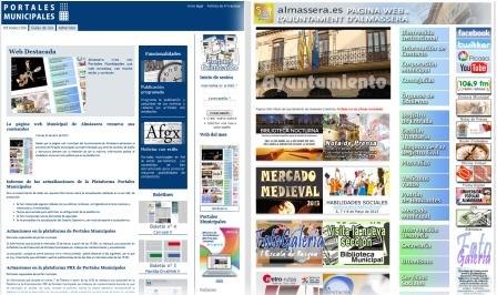 Web de Almàssera. Foto: EPDA.
