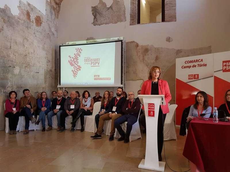 Lola Celda es proclamada nueva secretaria comarcal del PSPV-PSOE